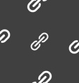 Chain Icon sign Seamless pattern on a gray vector image