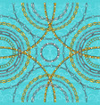 chains on damask flat seamless pattern vector image vector image