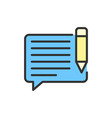 chat with pen sms write message email vector image