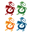 chinese style dragon icon vector image