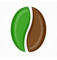 coffee bean logo or icon vector image vector image
