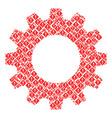 cog composition of error icons vector image