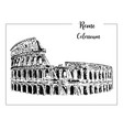 coliseum rome architectural symbol beautiful vector image vector image