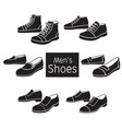 collection of different mens shoes pair vector image