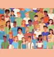 crowd diverse people multiethinc nationalities vector image vector image