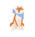 cute cheerful akita inu wearing neck scarf vector image vector image