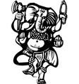 Dancing Ganesha B vector image vector image