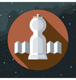 Digital with space rocket icon vector image vector image