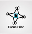 drone star logo icon element and template vector image vector image