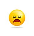 emoji smile icon symbol tired face yellow cartoon vector image vector image