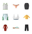 flat icon dress set of singlet clothes trunks vector image vector image