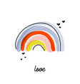 funny design with cute artistic playful rainbow vector image vector image