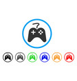 game pad rounded icon vector image