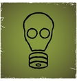 Gas mask on old scratched background vector image vector image