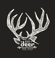 Graphic design for t shirt with a image of deer vector image