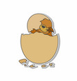 hatched chicken eggs sticker concept vector image vector image