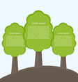 Infographic of ecology Concept design with tree vector image