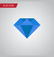 isolated gemstone flat icon carat element vector image