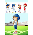 kids in baseball uniform in the field