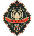labels for the brewery or beer with a windmill vector image vector image