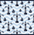 lighthouse pattern vector image vector image