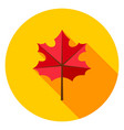 maple leaf circle icon vector image