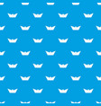 origami boat pattern seamless blue vector image