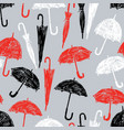 pattern of the sketches umbrellas vector image vector image