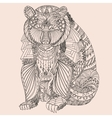 Patterned bear zentangle style Good for T-shirt vector image