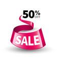pink ribbon sale vector image vector image