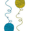 print yarn balls set vector image vector image