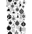 Seamless black-and-white pattern with Christmas vector image