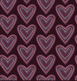 seamless pattern graphic heart in dots vector image vector image