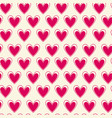 seamless pattern with bright pink hearts on white vector image