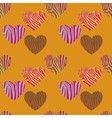 Seamless pattern with heart shapes vector image vector image