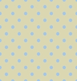 Seamless polka dot yellow pattern with circles vector image