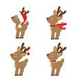 set christmas reindeer vector image