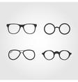 Set of glasses flat design vector image vector image