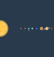 Solar system flat vector image