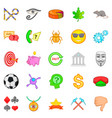 symbolize icons set cartoon style vector image vector image