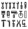 tool icon set on white background vector image vector image
