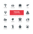 travel - line design icons set vector image vector image