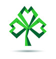 trefoil clover icon for st patricks day vector image vector image