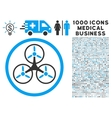 Tricopter Icon with 1000 Medical Business vector image vector image
