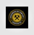 vintage carpentry woodwork premium logo badge vector image