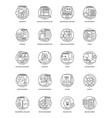 web development line icons 6 vector image vector image