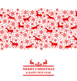 xmas deer red vector image