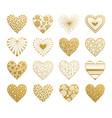valentine day hearts set vector image