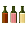 Colors Wine Bottles Set on White Background vector image