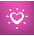Abstract Heart draw isolated on pink background vector image